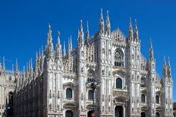 An exterior view of the Milan Catherdral, where Andrea Bocelli will perform on Easter Sunday. (photo: Jiuguang Wang)