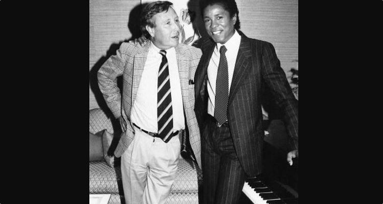 James Fisher with Jermaine Jackson (photo: Adam White)