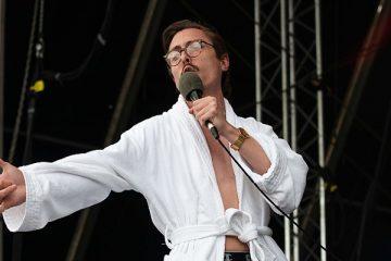 Marc Rebillet performing in Dublin, Ireland.