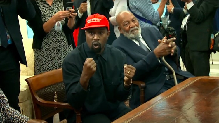 Kanye West During a 2018 meeting at the White House