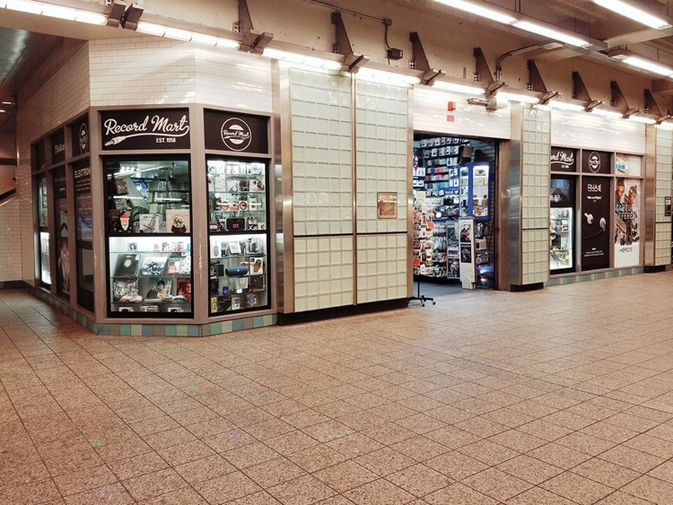 Record Mart prior to closing in the Times Square subway station, NYC (photo: Record Mart)