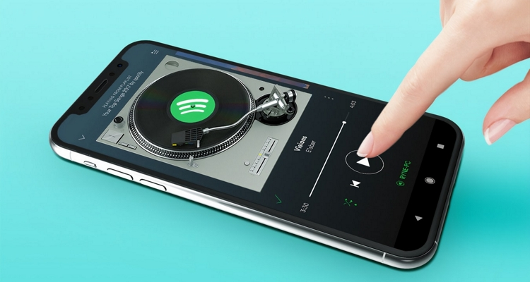 Spotify video player