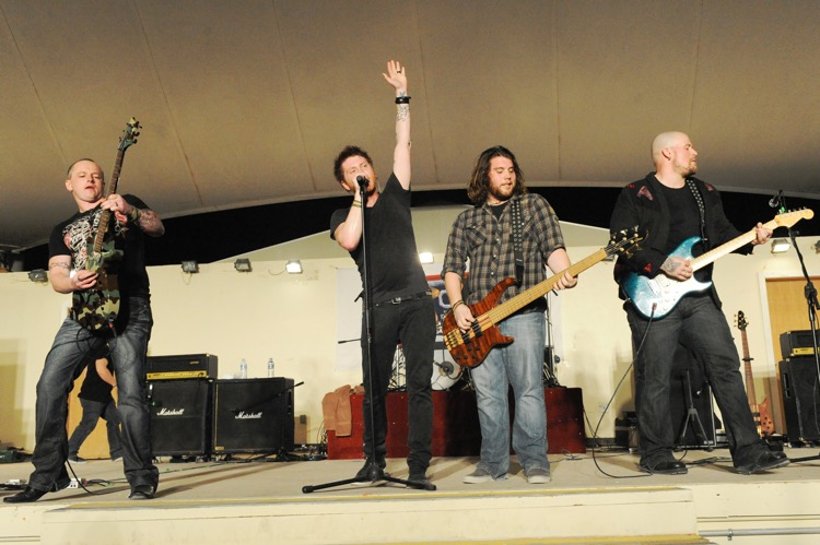 Saving Abel, one of 15 groups performing at this weekend's 'Herd Immunity' festival (photo: Michelle Larche, U.S. Air Force)