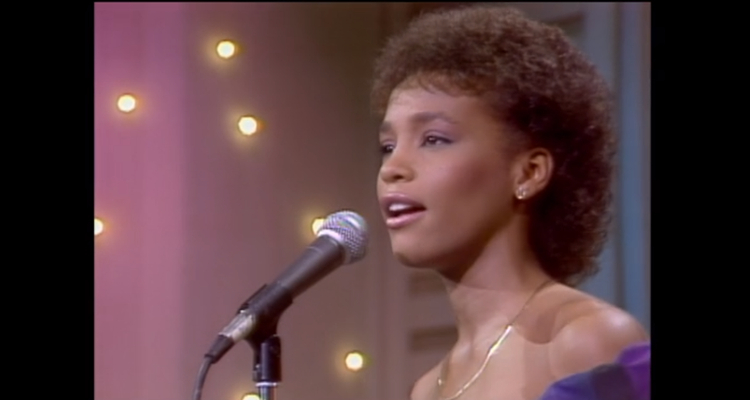 Whitney Houston's first television performance, on 'The Merv Griffin Show' in 1983, as seen in 'Whitney'.