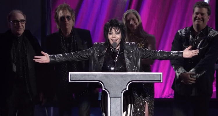 Joan Jett's 2015 Rock and Roll Hall of Fame induction, as seen in 'Bad Reputation'.