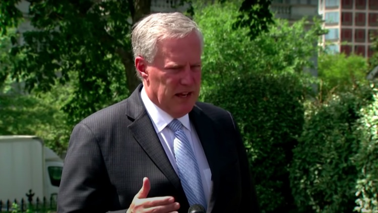 White House chief of staff Mark Meadows discussing second stimulus package discussions over the weekend.