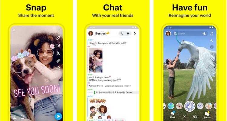 Snapchat app - TikTok alternative