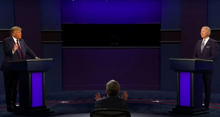 Moderator Chris Wallace unsuccessfully tries to control the Trump-Biden Presidential Debate on Tuesday, September 29th.