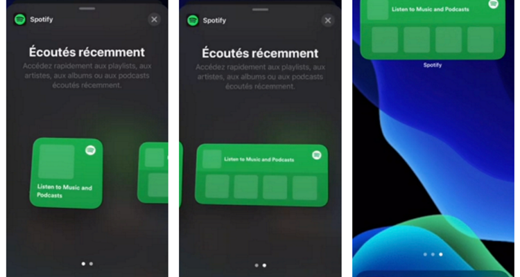 Spotify is creating widgets in iOS 14 beta