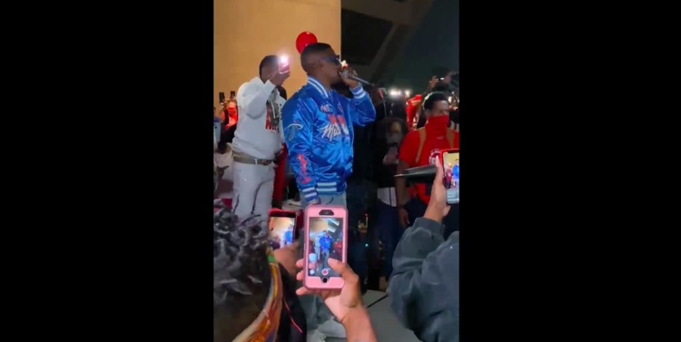 Boosie Badazz paying tribute to Mo3 in Dallas, shortly before the murder attempt.