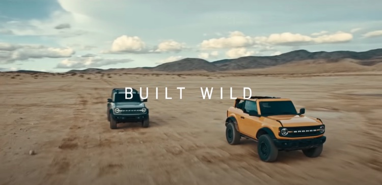 A recent advertisement for Ford's 2021 Bronco