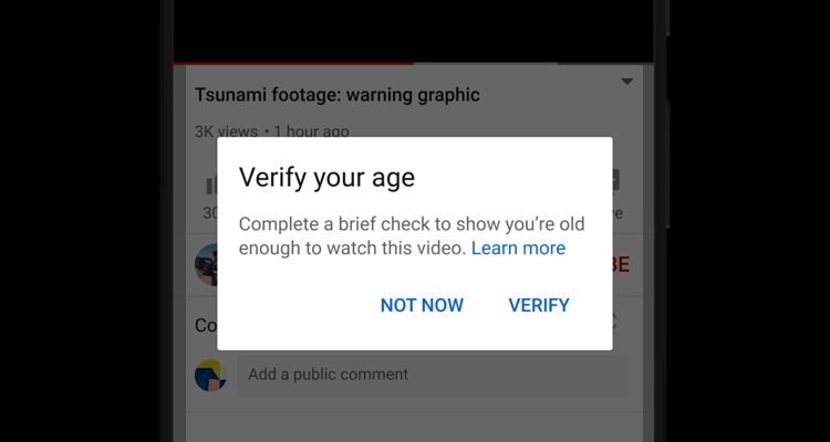 YouTube age gate