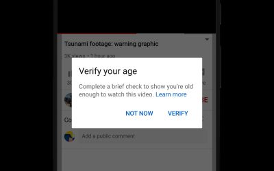 YouTube age gate