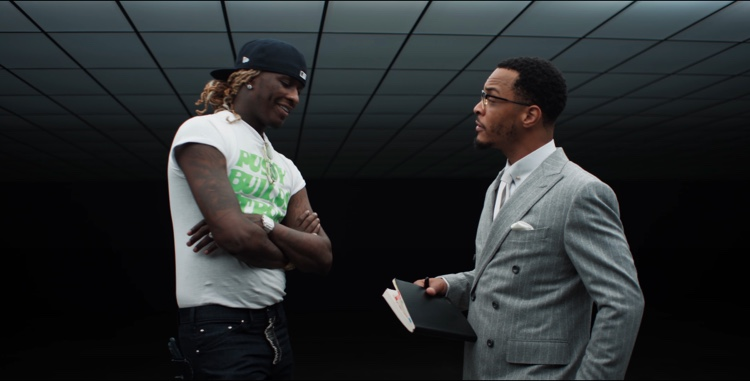 Trap Music heavyweights Young Thug (l) and T.I. (r).