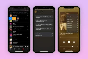 Apple Music lyric share