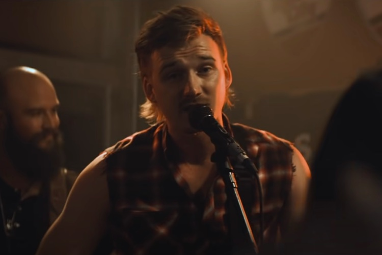 """Morgan Wallen singing in the official video for """"Whiskey Glasses,"""" released in July, 2018."""