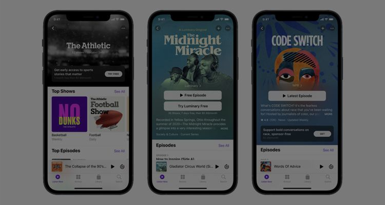 Apple paid podcast subscriptions