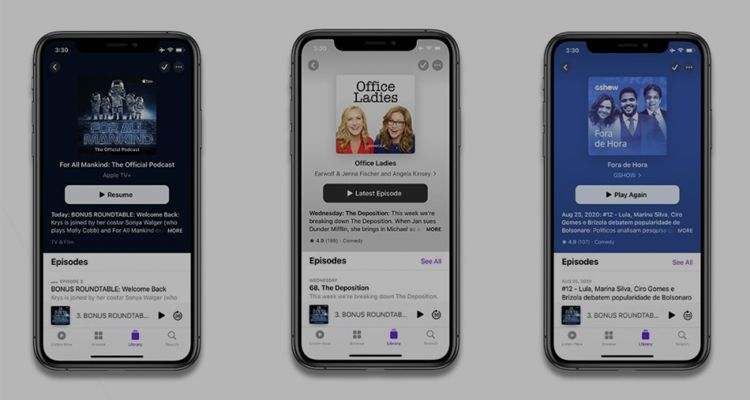 Apple podcast app redesign broken
