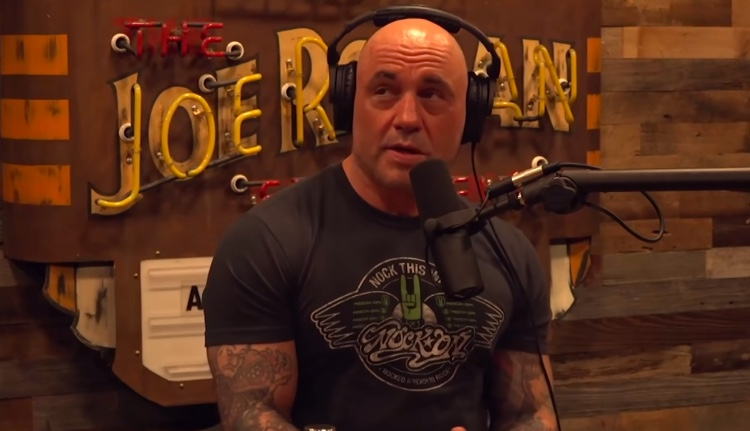 Joe Rogan during his latest podcast interview with gun rights advocate Colion Noir, April 16th, 2021 (photo: Digital Music News)