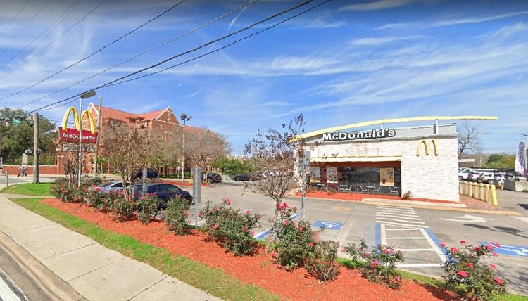 The McDonald's parking lot in Tallahassee, FL where Kodak Black was ambushed early Monday morning (photo: Google Maps)