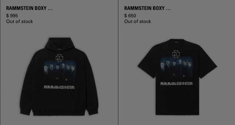 Rammstein luxury merch
