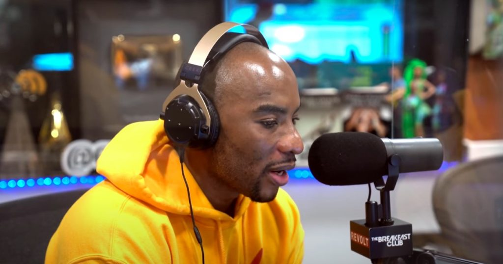 Charlamagne Tha God during a recent broadcast of The Breakfast Club on New York-based Hot 97