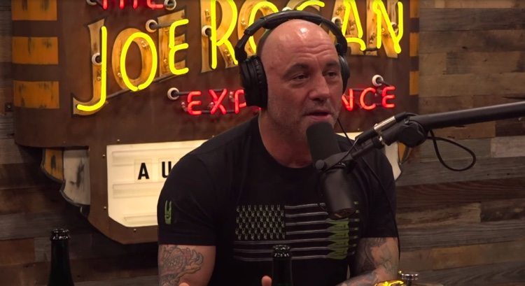 Joe Rogan during a recent podcast episode with guest Anthony Cumia.