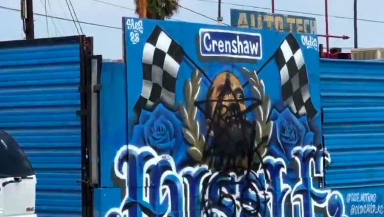 Nipsey Hussle mural in South Los Angeles