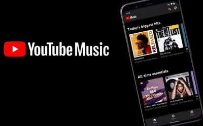 YouTube app music controls