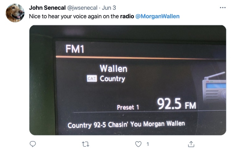 Morgan Wallen reappears on iHeartMedia-owned Country 92.5 in Connecticut on June 3rd.