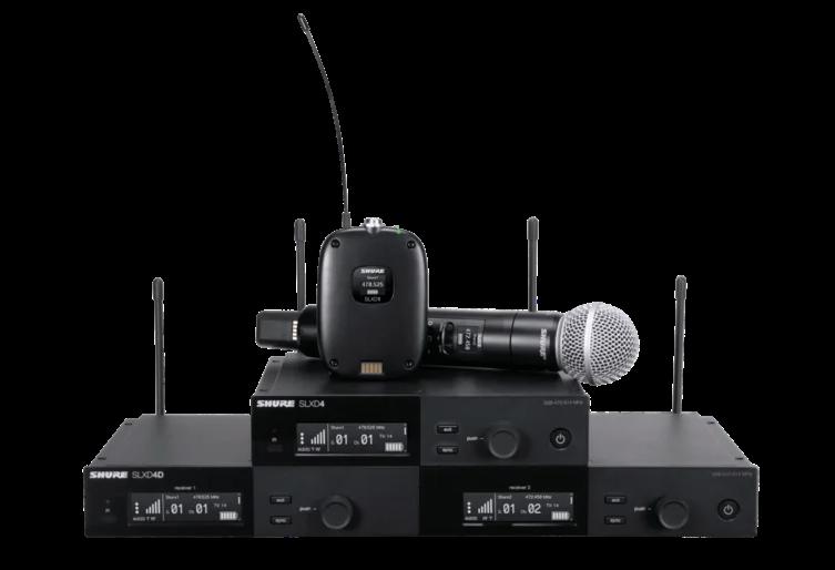 The Shure SLX-D digital-wireless system.