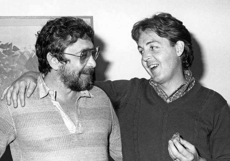 Walter Yetnikoff shares a laugh with Paul McCartney (Photo Credit: Nick Truger)