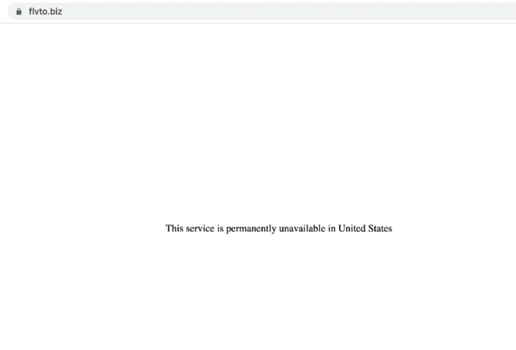 Скриншот местоположения FLVTO в США, 5 августа 2021 г.