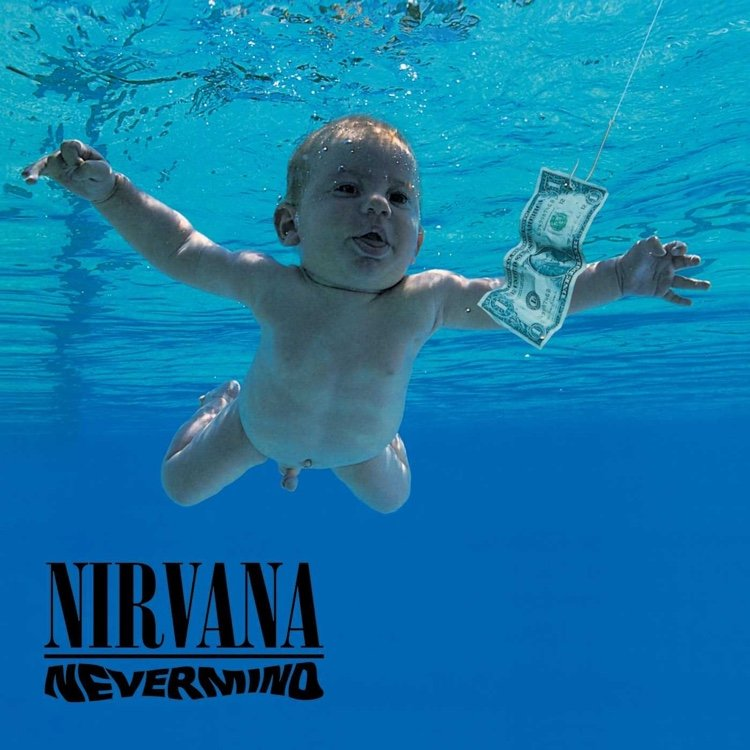 Cover artwork of the iconic album Nevermind, released by Nirvana on September 24th, 1991.