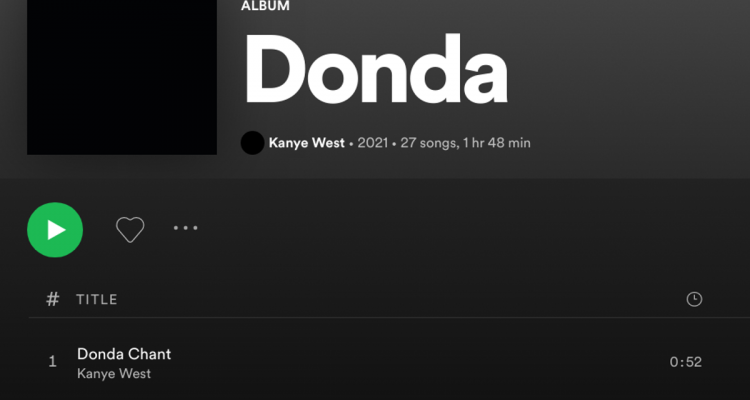 Kanye West Donda Spotify Apple Music