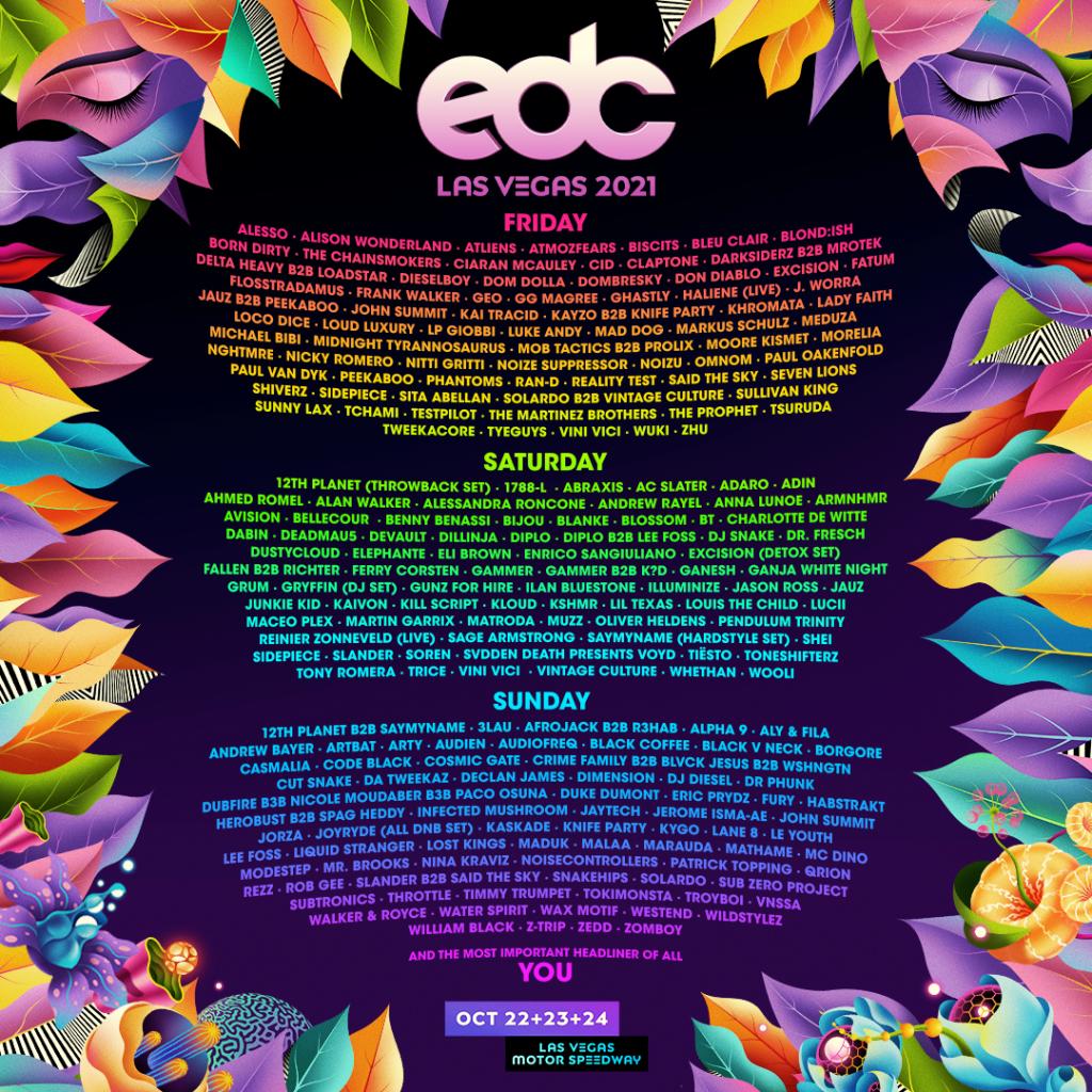 EDC Las Vegas 2021 lineup